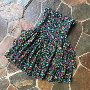 Betsey Johnson strapless floral dress M cute date